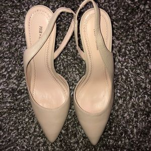 Pour La Victoire Nude Maira Pointed Toe Wedges